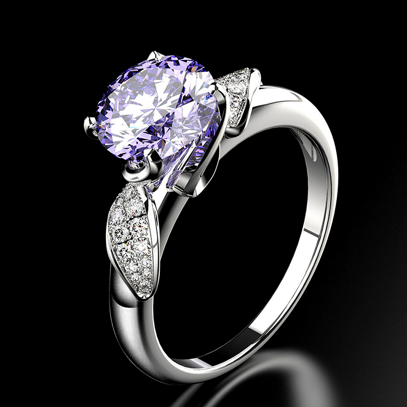 PANSYSEN Pure 925 Sterling Silver Jewelry Wedding Engagement Rings For Women Top Quality Luxury 8x8mm Gemstone Ring Size 6-9 5