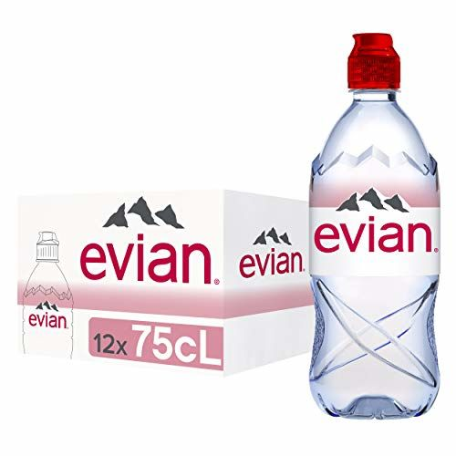 Evian Natural Mineral Water Sports Cap - 75cl