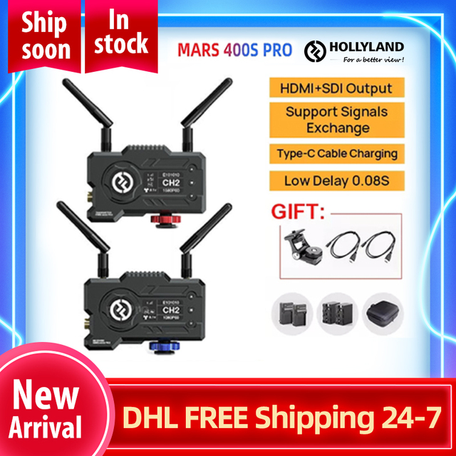 Hollyland מאדים 400S פרו HDMI כבל תואם sdi אלחוטי וידאו שידור HD תמונה מקלט 1080P עבור צילום