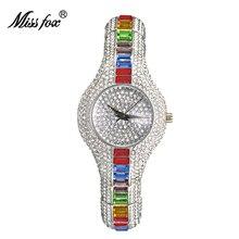 MISSFOX женщины часы Топ Марка роскошные популярные мини-шар серебряные ювелирные изделия женские часы цвет Алмаз браслет наручные часы подарки