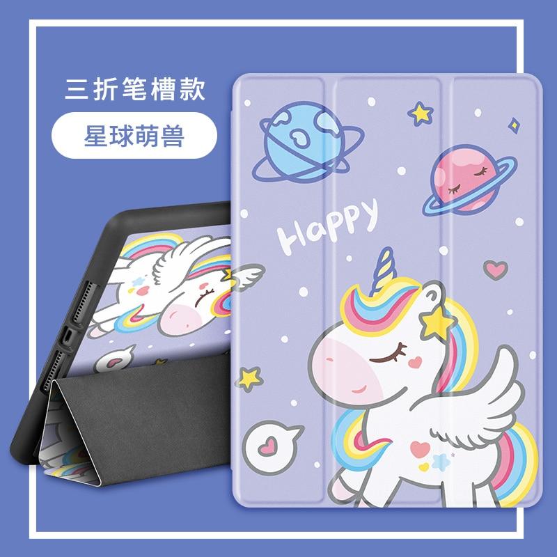 Unicorno carino per 10.2 ipad 8a 7a generazione custodia Pro 11 custodia 2020 Mini 5 Cover Silicone morbido per ipad Air 4 10.9 Air 3 10.5