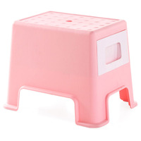Plastic Stool Changing His Shoes Small Bench People Can Sit Stool Multifunctional Storage Stool