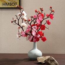 Künstliche Blume Pflaume Kirsche Blossom Zweige Zimmer Boden Desktop Home Dekoration Plum Blossom Gefälschte Blume DIY Hochzeit Ornamente