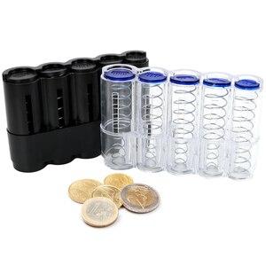 Евро диспенсер для монет, коробка для хранения, домашний декор, коробки для денег, сберегающая коробка, банка, креативное хранилище монет, ко...
