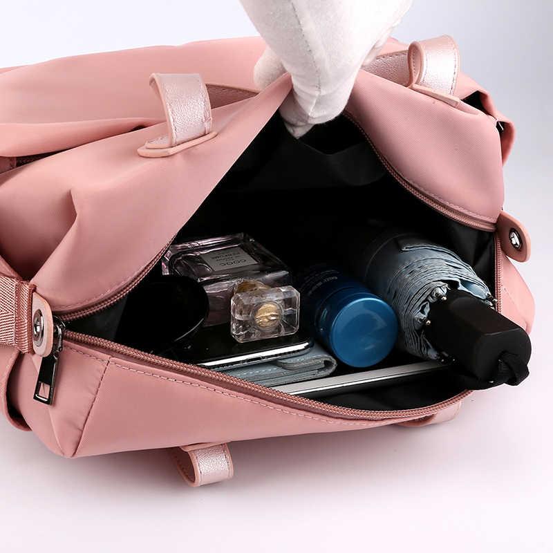 Короткие женские дорожные сумки Сумка через плечо Большая вместительная багажная Спортивная тренировочная сумка разделительная спортивная сумка