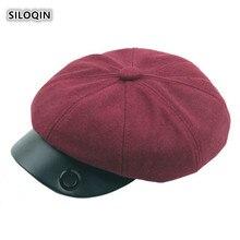 SILOQIN Autumn Winter New Elegant Womans Newsboy Hat Snapback Artist Painter Quality Leisure Caps Tourism Motion Octagonal Cap