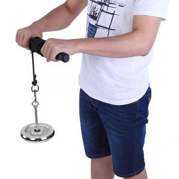 Nadgarstek Roller Exerciser siłownia przedramię trener kulka do ściskania podnoszenie ciężarów przedramię siła Exerciser ciągnąć linę Wrist Roller tanie i dobre opinie VBESTLIFE Other Ciało