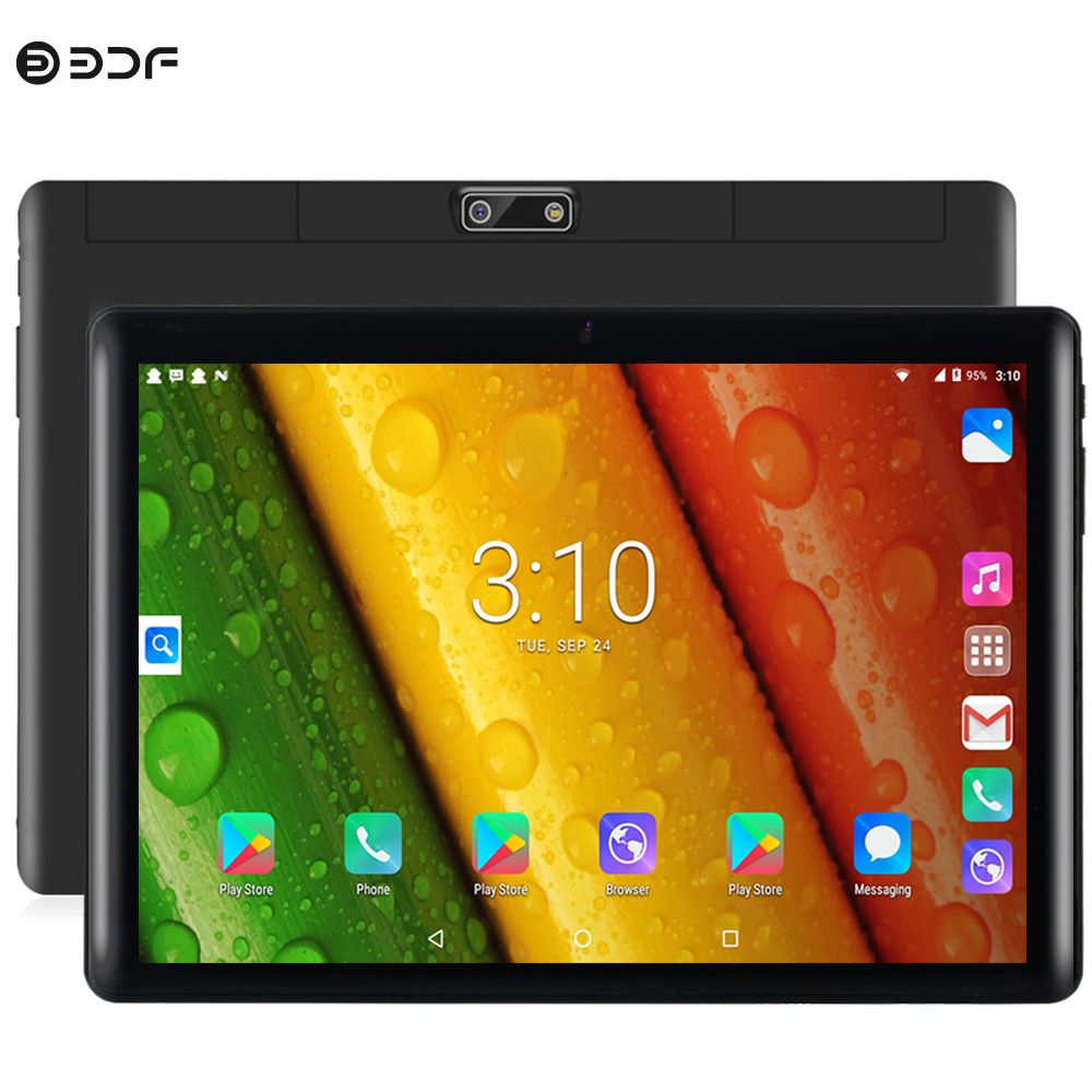 10 Inch 3G Phone Call WiFi Tablet Pc Quad Core Android Tablets 1GB RAM 16GB ROM 2.5D Glass Screen 1280x800 Support Dual SIM Card
