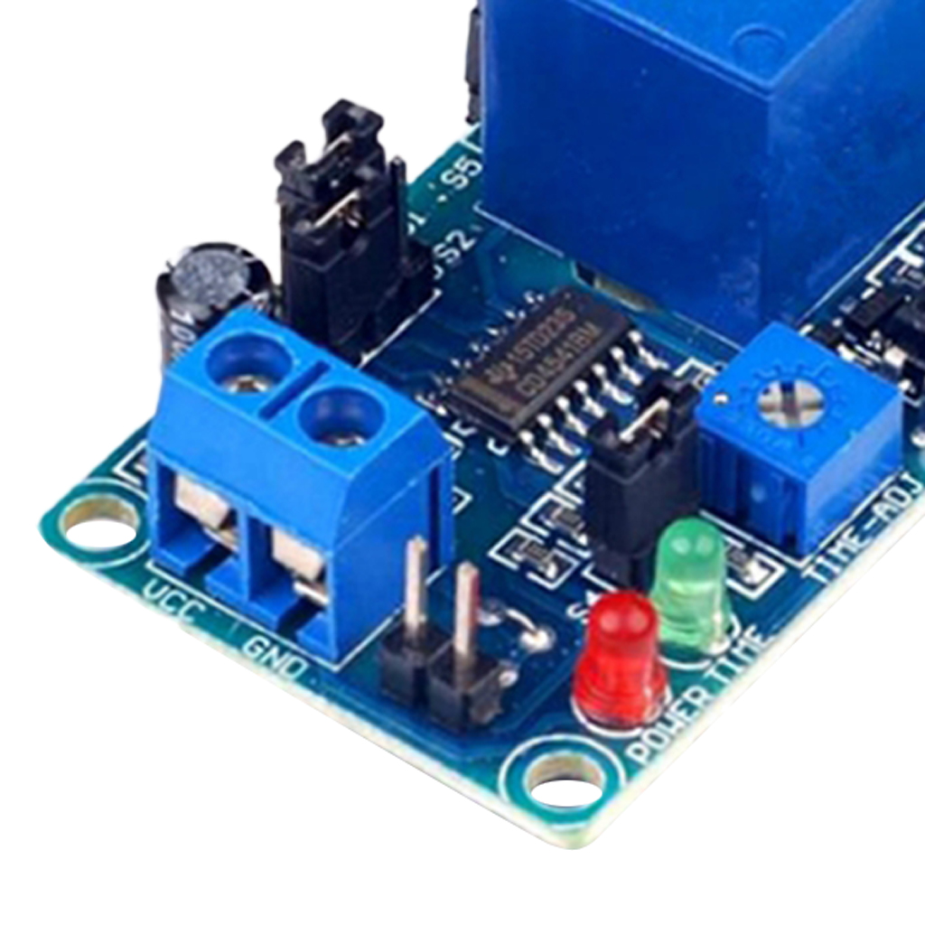 2x DC 12V Home Automation Time Delay Electronic Module Circuit Timer Board