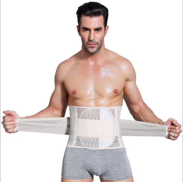 Men's Abdomen Fat Burner Belly Compression Body Shapers Slim Waist Trainer Belt Men Shapers Musle Practice support 2