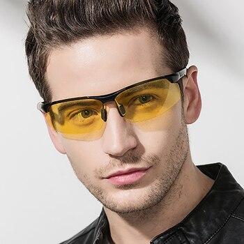 Πολυμερή συνταγή νυχτερινής όρασης γυαλιά ηλίου μυωπία ανδρικά γυαλιά ηλίου διόπτρα διορατική -1,5-2 +1 αντιθαμβωτικά κίτρινα γυαλιά οδηγού