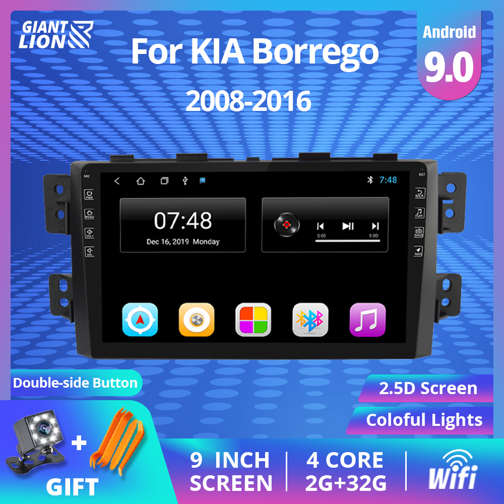 <font><b>2DIN</b></font> Android 9.0 <font><b>Car</b></font> <font><b>Radio</b></font> For Kia Borrego Mohave 2008-2012 Stereo Multimedia Video Player GPS Navigation <font><b>Autoradio</b></font> DVD Player image