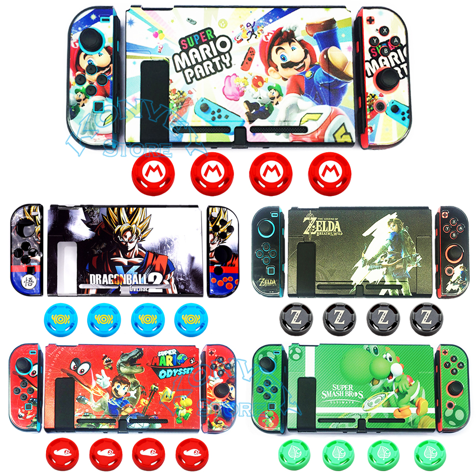 For Nintend Switch Colorful PC Hard Case NS Theme Pattern Shell  Colored Skin Cover for Nintendo Switch Console Direct Docking