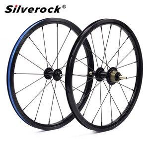 Image 1 - Велосипедная колесная пара 349, 1 3 скорости, 16x1 3/8 дюйма, Kinlin, внешний колесный обод для Бромптона 3, 60 щуки, элемент, сверхлегкие складные велосипедные колеса 800 г