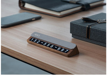 Can Be Hidden  Wooden Dashboard Temporary Phone Number Car Parking Card Accessories for Car