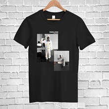 купить Frank Ocean Endless 90's Vintage Black Tshirt Reprint  S M L XL XXL 3XL 2018 Summer New Brand T Shirt Men Hip Hop Men T-Shirt дешево