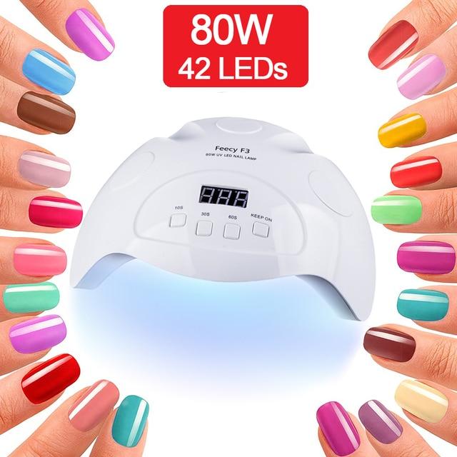 מנורת UV לציפורניים מניקור LED UV ג ל נייל מנורת אור מייבש ציפורניים ג ל פולני עם 10 s/30 s/60 s כפולה ידיים פדיקור אמנות כלים