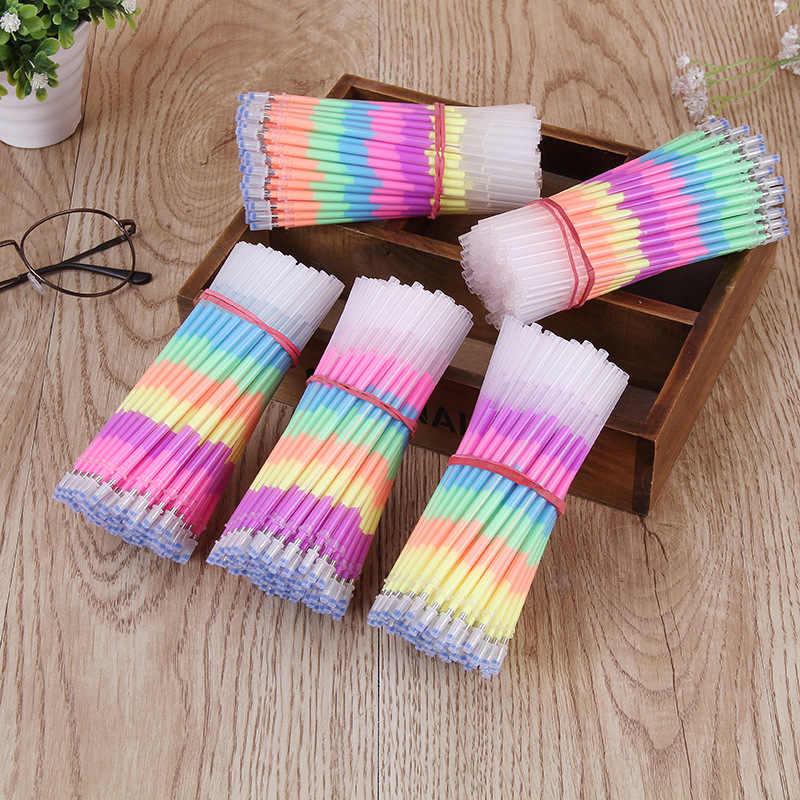10/20 Pcs Multi Color Rainbow Markeerstiften Vullingen Gel Pen Voor Studenten Diy Schilderen Graffiti Fluorescerende Refill School Supply