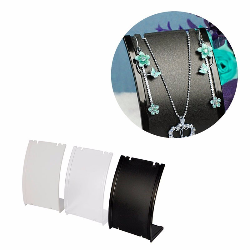 Pendant Necklace Chain Earring Bust Neck Plastic Display Stand Holder Showcase
