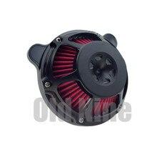 Motorrad CNC Cut Luft Reiniger Filter Intake Filter Für Harley Sporster XL Touring Street Glide Road Glide 08 16 dyna Softail PM