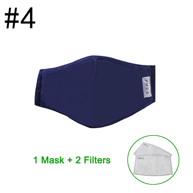 Variation #2 of 2020 pm2.5 anti dust mask mouth mask activated carbon filter windproof mouth-muffle safety proof of face masks