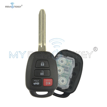 Remtekey Fits for Toyota Hyq12bdm 4 Button remote Key Fob 89070-06421/06420 fob key 4 button 314.4Mhz with H chip car key xinyuexin silicone car key cover fob case for toyota altezza wish carina one button on side remote key car styling