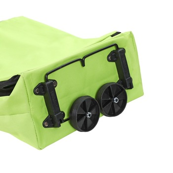 Foldable Multifunction Shopping Trolley Bag with Wheels    Wheels Reusable Reusable  Green Storage Bag  Water Proof 4