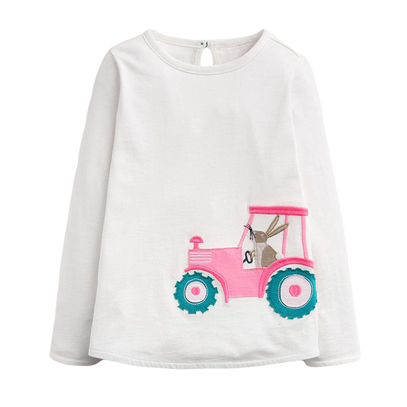 VIDMID Baby Girls Long Sleeve Casual T-shirts Kids Cotton Floral Cartoon Clothes Tops Children Girls T-shirts Tees Kids Baby Top 6