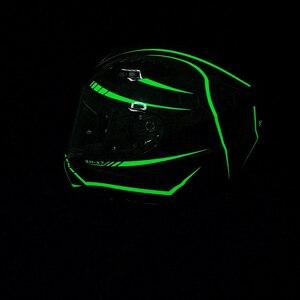 Image 3 - SOMAN ניאון קו סיבי פחמן קסדה מגניב מלא פנים ECE אופנוע קסדות מגן להעיף את Mens מירוץ Bluetooth Casco Moto
