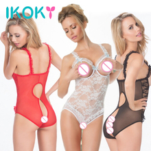 IKOKY Lace Open Bra Sex Underwear Open Crotch Sex Toys for Women Exotic Apparel