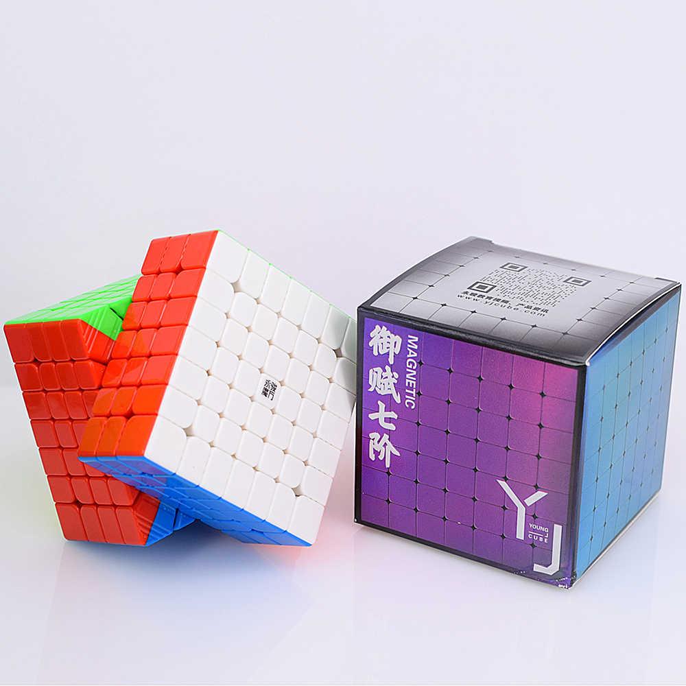Магнитный кубик Yongjun YuFu M 7x7x7 скоростной кубик 7x7 головоломка кубик 7x7x7 Магический кубик YJ соревнование кубики 2x2 3x3 4x4 5x5 6x6 волшебный кубик