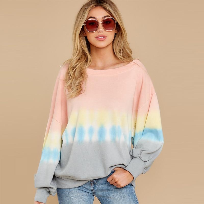 Купить повседневные женские осенние толстовки спортивная рубашка модный