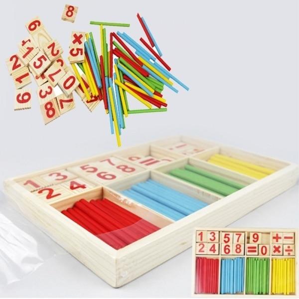 Цветные бамбуковые Счетные палочки, детская игрушка, учебные пособия по Монтессори, Счетный стержень для детского сада, математика, обучающая развивающая игрушка 2