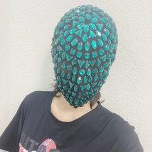 Diken elmas perçin Punk tam yüz yüz için maske gece kulübü dans Cosplay cadılar bayramı maskeleri moda taklidi maskesi parti giyim