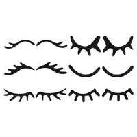 2 pièces noir feutre licorne yeux endormis cils pour les filles licorne fête d'anniversaire bricolage enfants cheveux Bow chapeaux accessoires de cheveux