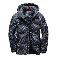 New High Quality Winter Warm Thicken Zipper Coats Mens Hooded Parkas Casual Male Slim Multi-Pockets Overcoat Camouflage Jackets