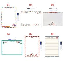 Christmas Soft Magnetic Whiteboard Reminder Magnet Erase Fridge Message Board