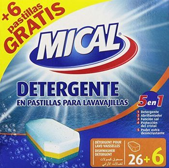 MICAL–5in 1–Detergent in Dishwasher Tablets–32Tablets x 20g–[Pack of 5]