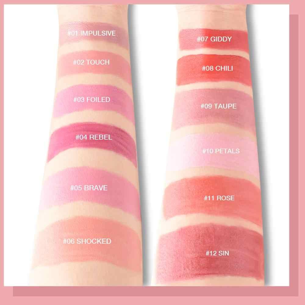 Lamuseland 12 Kleuren Leuke Mini Fluwelen Vocht Lipgloss # LA0005