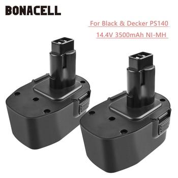BATTOOL pour Firestorm PS140 Ni-MH 3500mAh 14.4V PS140 Batterie pour Black & Decker A9262 A9267 A9276 A9527 PS140 PS140A L30