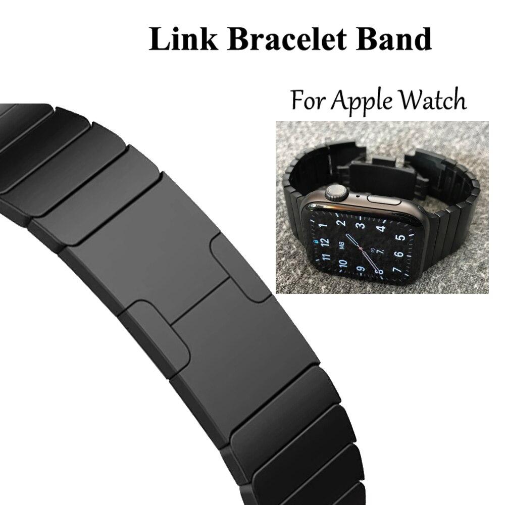 Lien Bracelet Bracelet de montre pour apple Bracelet de montre 5 4 iwatch 42mm 38mm 44mm 40mm 3 2 pulseirac acier inoxydable smatwatch ceinture