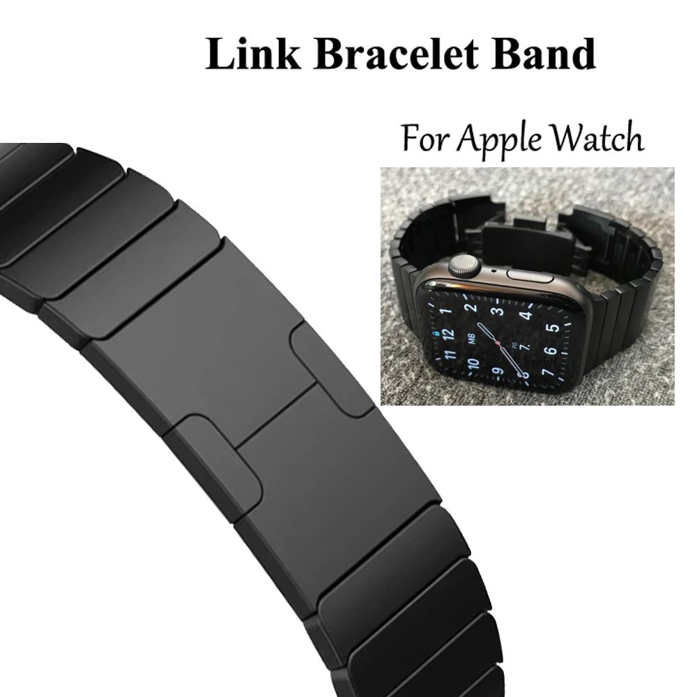 Lien Bracelet Bracelet de montre pour apple Bracelet de montre Bracelet 5 4 iwatch 42mm 38mm 44mm 40mm 3 2 pulseirac acier inoxydable smatwatch ceinture