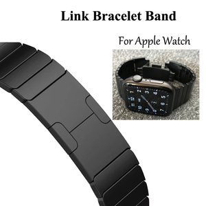 Image 1 - Link Bracelet watchband for apple watch band strap 5 4 iwatch 42mm 38mm 44mm 40mm 3 2 pulseirac stainless steel smatwatch belt