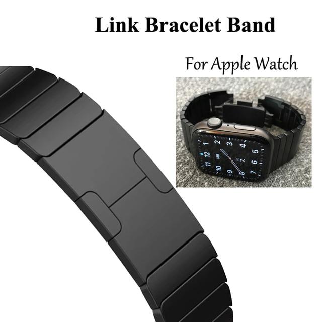 Link Bracelet watchband for apple watch band strap 5 4 iwatch 42mm 38mm 44mm 40mm 3 2 pulseirac stainless steel smatwatch belt