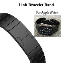 Link bransoletka pasek do zegarków dla pasek do apple watch pasek 5 4 iwatch 42mm 38mm 44mm 40mm 3 2 pulseirac ze stali nierdzewnej smatwatch pas