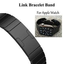 Link pulseira pulseira de relógio para apple pulseira 5 4 iwatch 42mm 38mm 44mm 40mm 3 2 pulseirac aço inoxidável smatwatch cinto