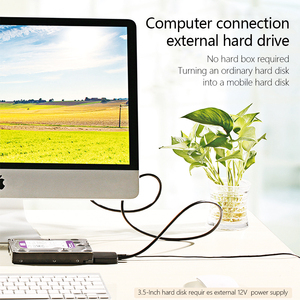 """Image 3 - USB 3.0 SATA Cable SATA to USB Adapter for 2.5"""" and 3.5""""  SSD HDD External Hard Drive Converter"""