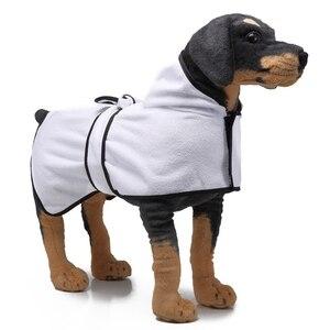 Креативный халат для собак, быстро впитывающий мягкий халат, теплая Пижама с животными, банный халат с капюшоном для домашних животных, соба...