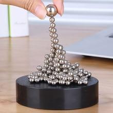 Magnetic Desktop Sculpture - Stacking Metal Ball - Office Stress Relief Desktop Game