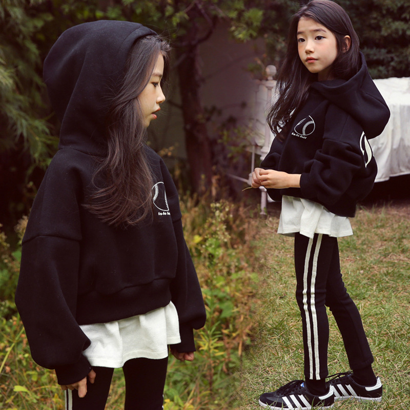 Image 4 - High Quality New Spring Fall Teens Girls Sports Set Female Kids Casual Sweater Suit Children Clothes Teenagers Tracksuits CA578Clothing Sets   -
